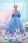 Muslima Wear çiçekli 2017 elbise