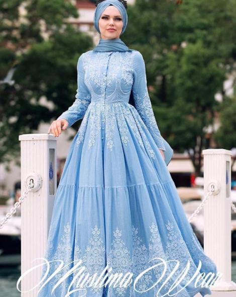 Muslima Wear ilkbahar elbise