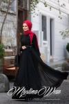 Muslima Wear siyah tesettür elbise