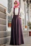 Vintage askılı elbise