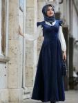 Vintage tesettür kadife elbise