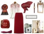Vintage tesettür kırmızı kombin
