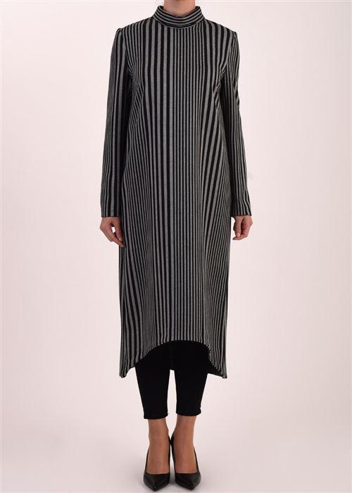 Armağan Giyim asimetrik çizgili tunik