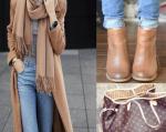Camel ayakkabı çanta kombini
