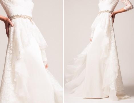 Dantelli 2017 nikah elbisesi