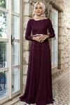 Dantelli tesettür elbise 2017