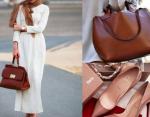 Klasik ayakkabı çanta kombini