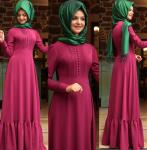 Pınar Şems fuşya elbise