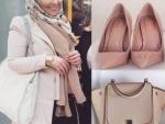Pudra ayakkabı çanta kombini