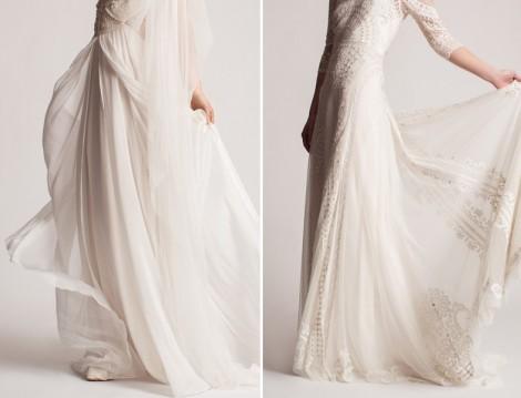 Şifon tesettür nikah elbisesi