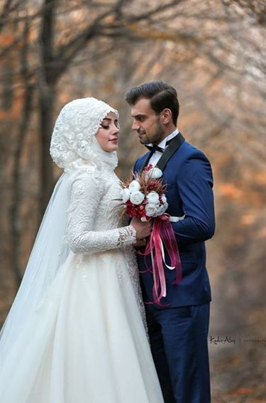 Yeni sezon kapalı nikah elbisesi