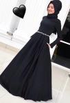 Gamze Polat 2017 siyah elbise