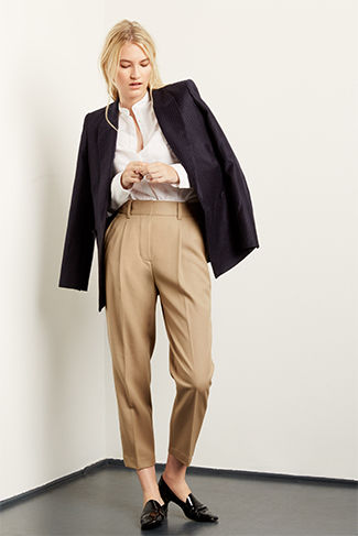 Havuç pantolon-ceket kombini