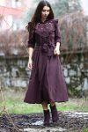 Patırtı nakışlı elbise