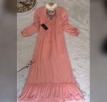 Fırfırlı krep elbise