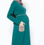 Yazlık tesettür cepli hamile elbise