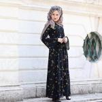 2017 çiçekli tesettür elbise