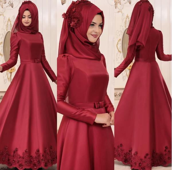 398ce75f23565 Kına Gecesi İçin Tesettür Abiye Elbise Önerileri