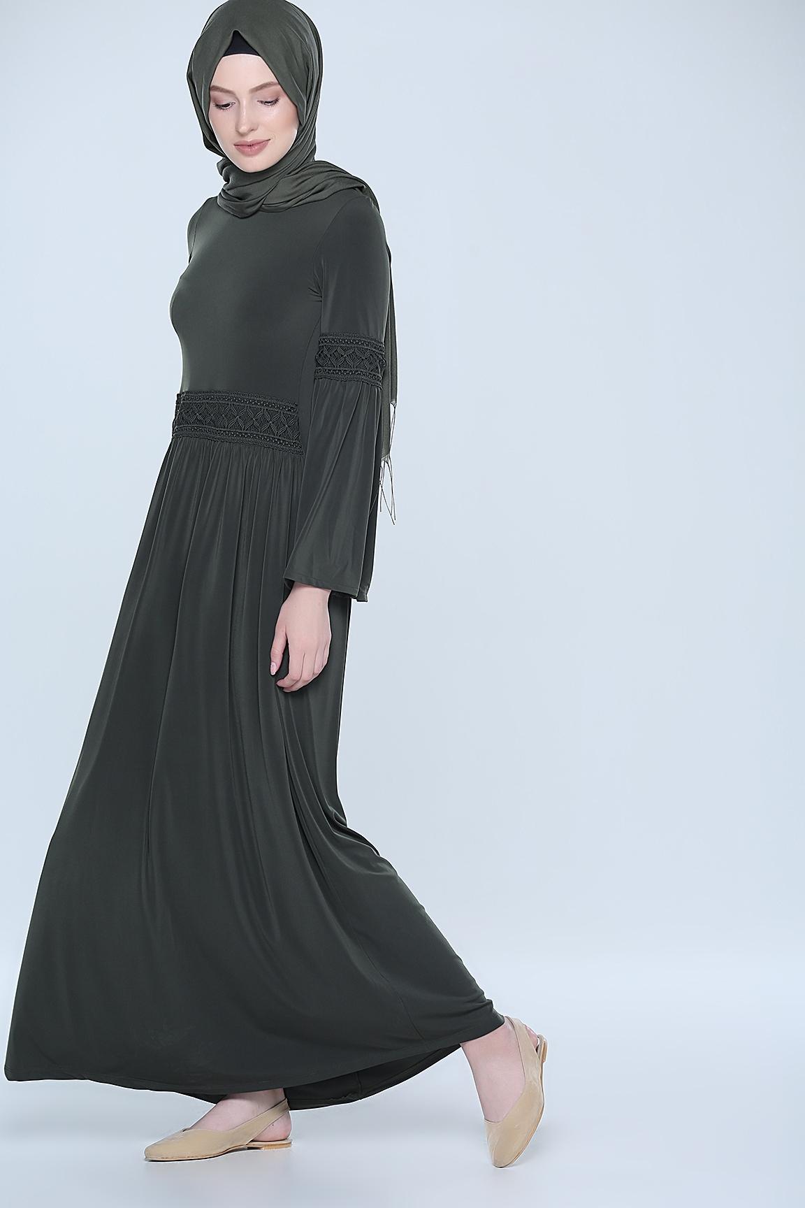 Tozlu yazlık tesettür elbise