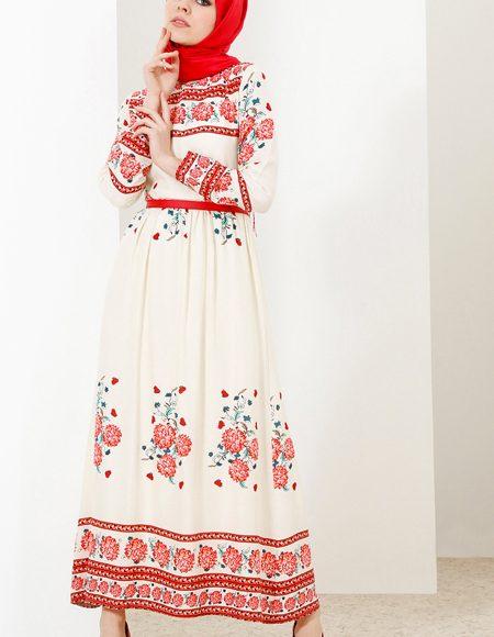 2018 yazlık günlük tesettür elbise