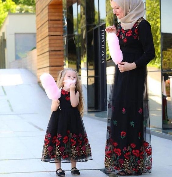 tesettür anne kız kombini 2019 yeni