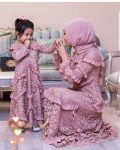 tesettür anne kız kombini elbise 2019
