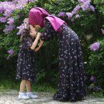 yazlık anne kız elbise kombini
