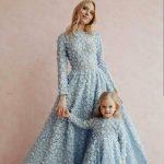 2020 anne kız elbise kombini