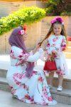 tesettür anne kız kıyafeti 2020